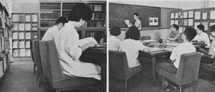 研究室とセミナー中の様子